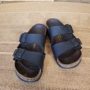 Arizona Birkenstocks Black Leather